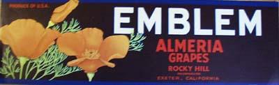 Emblem Almria Grapes Crate Label