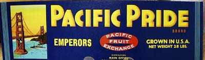 Pacific Pride Crate Label
