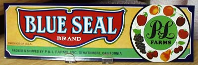 Blue Seal Crate Label