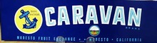Caravan Crate Label.