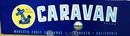Caravan Crate Label.