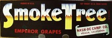 Smoke Tree Emperor Grapes Crate Label