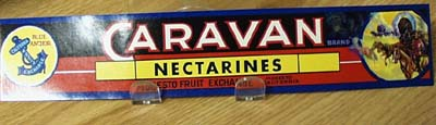 Caravan Nectarines Crate Label.