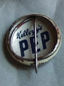 Pep Pinback button 1946 Pat Patten,