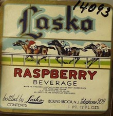 Lasko Raspberry Beverage Bottle Label.