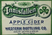 Innisfallen Apple Cider Bottle Label