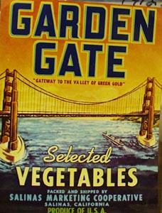 Garden Gate Can Label
