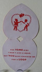 Boy & Girl with Serving Trays  Valentine.