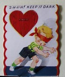 Boy with Blind Fold  Valentine.