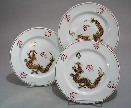 3 Moriage Dragon Plates,