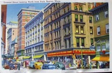 Tremont St Boston Mass Postcard