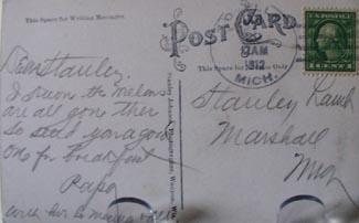 Huge Cantaloupes Loveles Mich Postcard