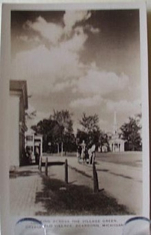 Village Green Dearborn MI Postcard
