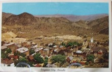 Virginia City, Nevada Aerial View Postcard