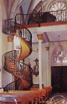Staircase Lady of Light Chapel Santa Fe PC