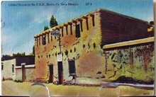Oldest House in USA New Mex. Postcard