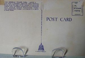 Fed Trade Bldg Washington DC Postcard