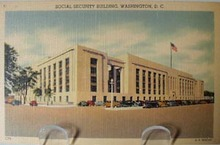 Social Security Bldg. Wash DC Postcard