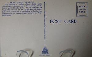 Social Security Bldg. Wash DC Postcard