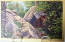 Can't Bear to Leave W Va Postcard.