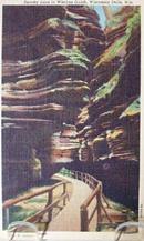 Spooky Lane Wisc Dells Post Card