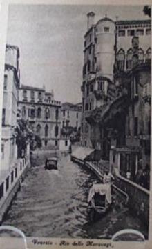Venezia Rio Delle Maravegie Post Card