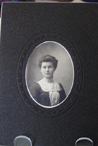 Young Woman White Collar & Cameo Photograph