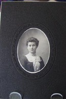 Young Woman White Collar & Cameo Photograph
