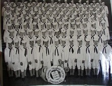 U S Naval Training Center Group Photograph 1945.