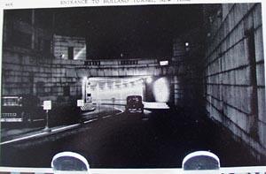 Entrance Holland Tunnel NY Postcard