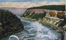 Gorge & Rapids Niagara River N Y Postcard