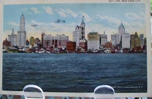 Skyline NYC NY Postcard.