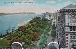 Riverside Park & Drive NYC Postcard