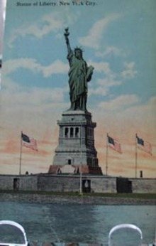 Statue of Liberty, NYC Postcard.