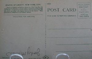 Statue of Liberty, NYC Postcard.