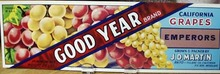 Good Year Emperors Grapes Crate Label
