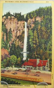Multnomah Falls Oregon Postcard