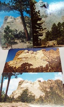 Four Views Mt Rushmore SD Postcards