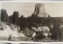 Devils Tower Black Hills SD Postcard