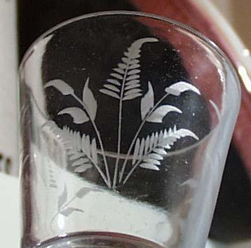 Fern etched Goblet.