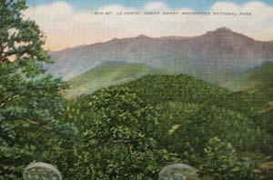 Mt le Conte Smoky Mtns. Tenn Postcard