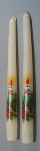 Poinsettia and Holly Candle Pair,