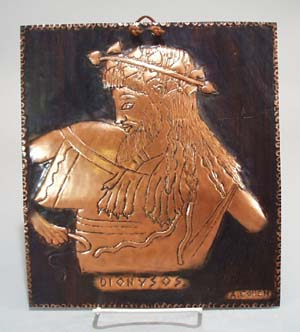 A. Cohen Copper picture of Dionysos