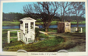 Entrance to LBJ Ranch Texas Postcard