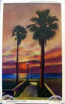 Sunrise Corpus Christi Bay Texas Postcard