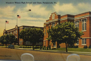 Woodrow Wilson High School Va Postcard