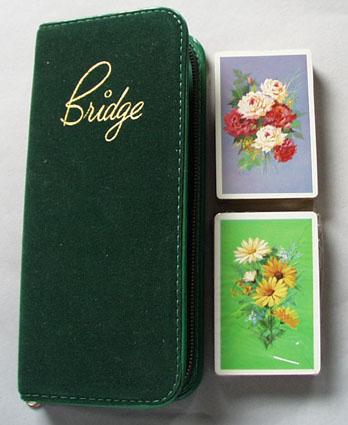 Velveteen bridge (standard deck) set in zipper case