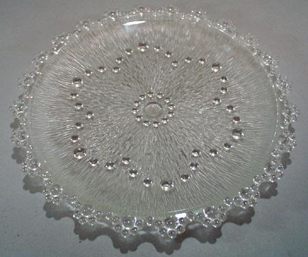 Beaded Edge with flower center Plate.