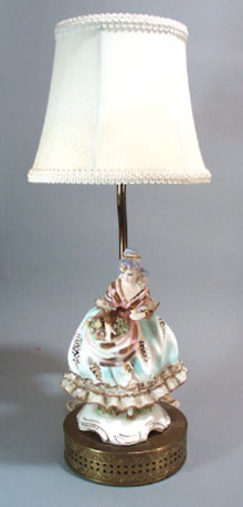 Lacey Lady with flowers Lamp.