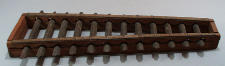 Old xylophone, toy or school model.